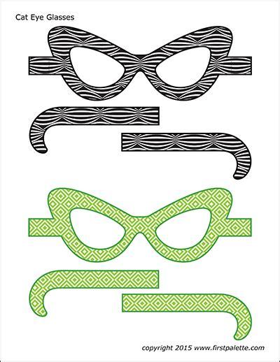 cat eye glasses templates  printable templates