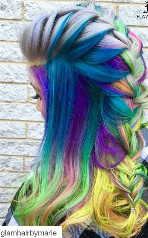 17 Best Images About Rainbow Of Hair On Pinterest Teal