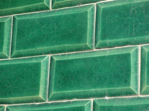 photo tiles green wall pattern  image