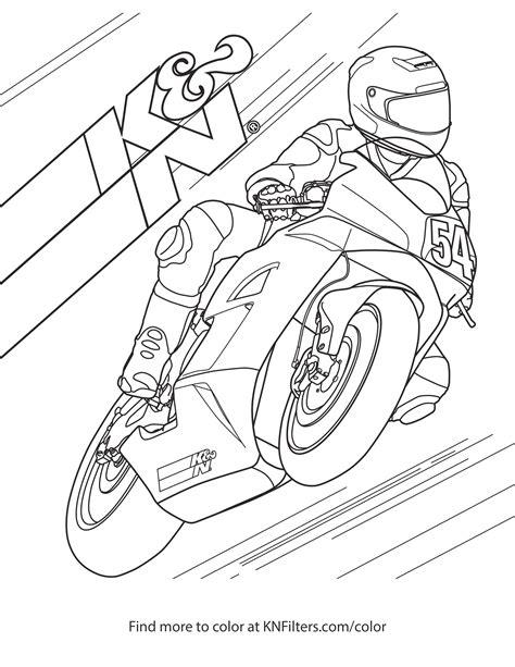 disegni motocross da colorare  stampare disegno  moto