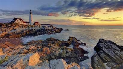 Maine Lighthouse Portland Pemaquid Point Farol Forwallpapercom