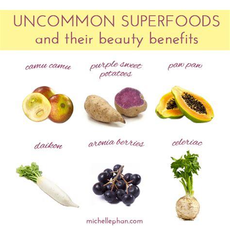 uncommon superfoods  major beauty benefits