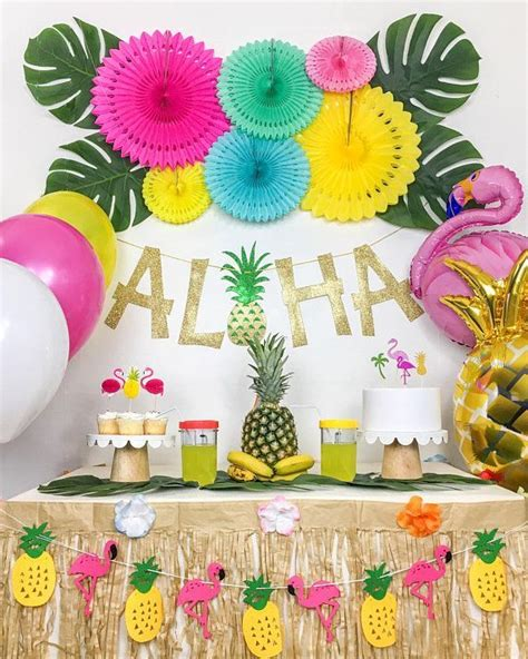 tropical party luau party hawaiian party theme summer