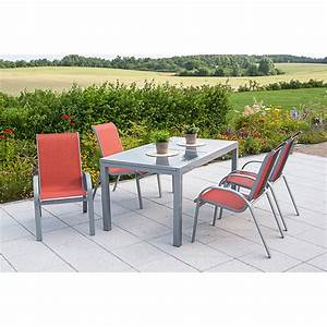 Gartenmöbel Set Günstig : merxx gartenm bel set amalfi silber terracotta 5 tlg g nstig kaufen ~ Frokenaadalensverden.com Haus und Dekorationen