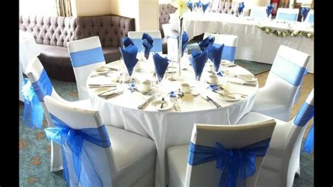 van teal table ls royal blue wedding reception centerpieces party themes