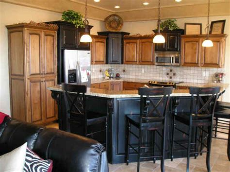 alder cabinets beautiful black kitchen island  bar seating kitchen islands pinterest