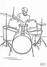 Drum Coloring Drums Player Coloriage Dessin Musique Batterie Cartoon Instrument Musicales Drawing Colorare Dibujos Bateria Instrumentos Drawings Ausmalbild Coloriages London sketch template