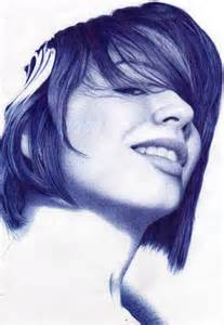 Blue BIC Pen Drawings
