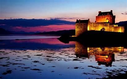 Castle Landscape Wallpapers Scotland Scenery Scottish Sunset