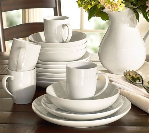 pottery barn dinnerware great white coupe dinnerware traditional dinnerware
