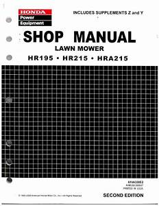 Honda Hr215 Lawn Mower Repair Manual