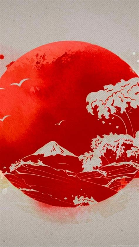 japan flag iphone  wallpapers desktop background