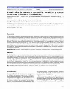 Pdf  Hidrolizados De Pescado  U2013 Producci U00f3n  Beneficios Y