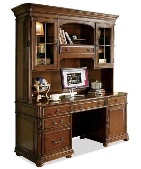 credenza desk and hutch large office computer desk and hutch by riverside