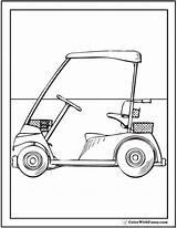 Golf Coloring Cart Sheet Pdf sketch template
