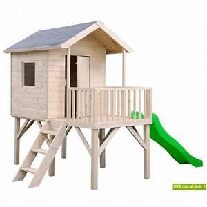 Toboggan Enfant Pas Cher : maisonnette pumba sur pilotis avec toboggan cabane ~ Dailycaller-alerts.com Idées de Décoration