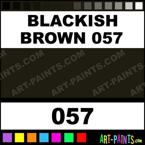 Blackish Brown Color blackish brown 057 portrait pastel paints 057 blackish