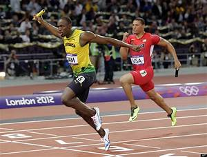 Usain Bolt Wins Gold In 100 Meters  Setting Olympic Record