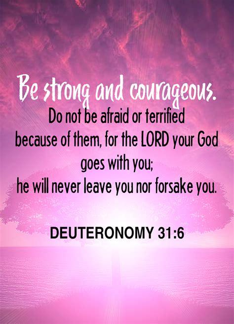 Bible Verse Deuteronomy 316 Words Just For You