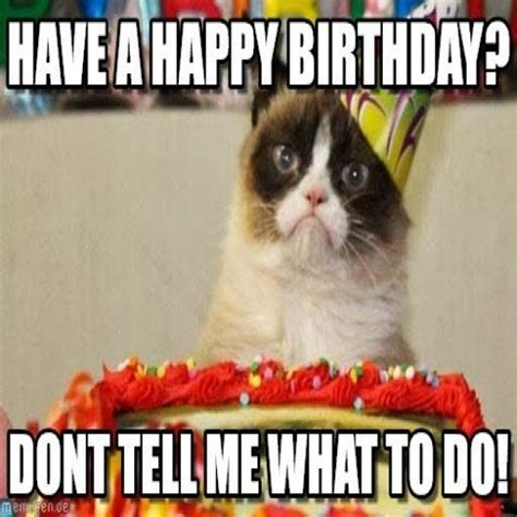 Birthday Grumpy Cat Meme - grumpy cat birthday meme 2018 funny cats