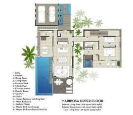 Contemporary Plan Contemporary Mariposa Villa With Stunning Views Villa Plans And Designs Bali Design