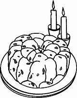 Cake Desserts Coloring Pages Food sketch template