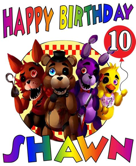 Check your freddy's gift card balance and see how much money is left on your gift card! FIVE NIGHTS AT FREDDY'S BIRTHDAY Party T-SHIRT Personalized Any Name/Age   eBay