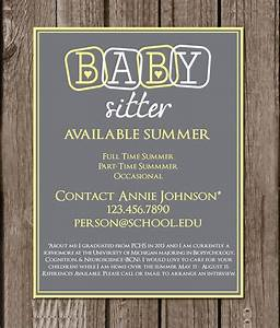 Babysitter Flyer Maker Free 14 Babysitting Flyers In Pdf Word Psd Ai Eps