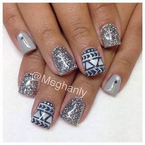 Winter nails tribal nail art | Nails / Design / Manicure ...