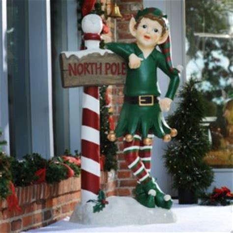 outdoor christmas elves north pole elf statue 54 in