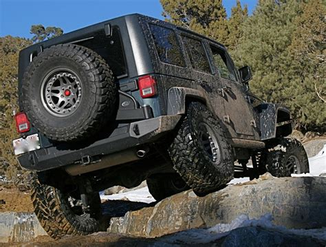 Expedition One Jeep Jk Trail Series Rear Bumper & Tire