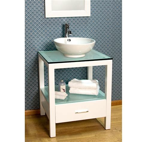 24 Mila Console Vanity With Vessel Sink Bathroom