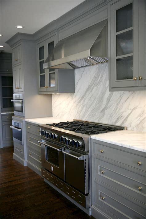 gray cabinets contemporary kitchen  design  build