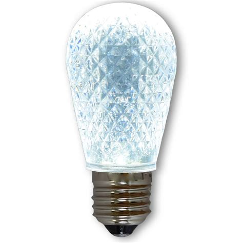 led s14 light bulb medium base faceted bulb cool