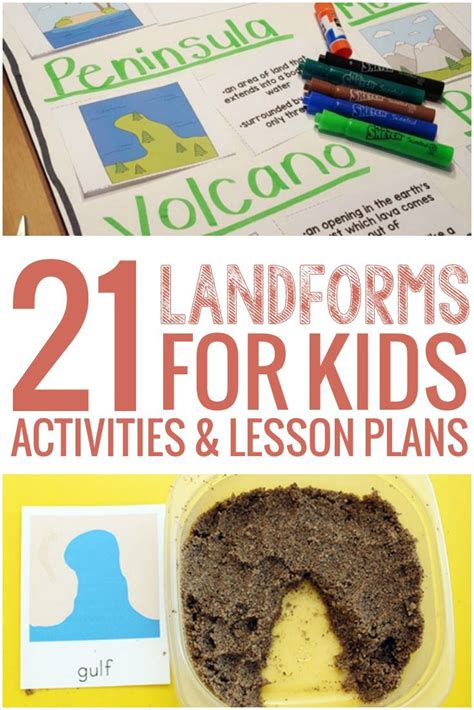 21 landforms for activities and lesson plans
