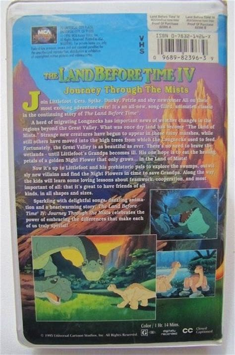 the land before time iv journey through the mists vhs ebay