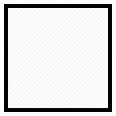Square Shape Icon Open C1495 Transparent 456mm