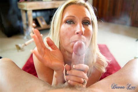 Busty Milf Devon Lee Giving Hot And Smoky Blowjob Pov
