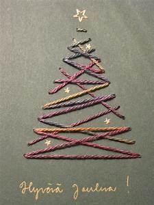 Sapin de Noël brodé sur carte | Education | Pinterest ...