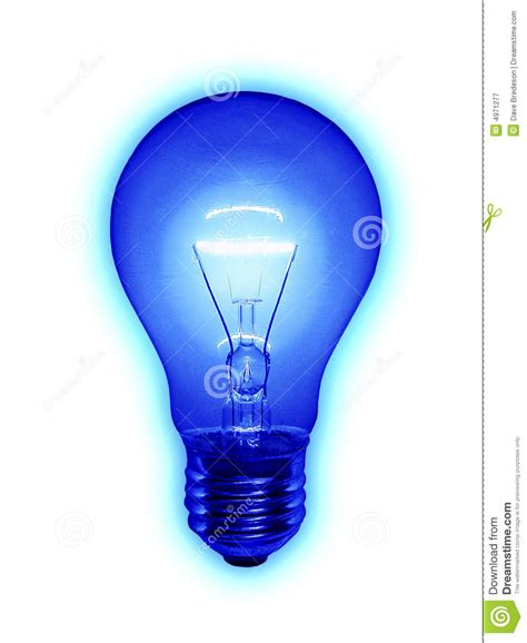 blue light bulb blue light bulb stock image image of power electricity