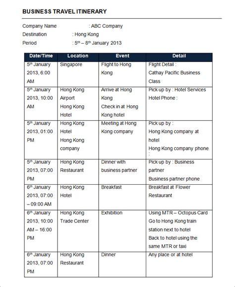 itinerary template 32 travel itinerary templates doc pdf free premium templates