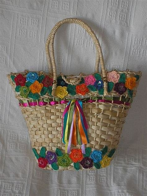 custom straw tote bags upcycle art
