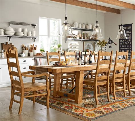 pottery barn kitchen table the design our benchwright dining table