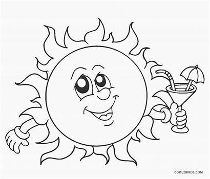 Sun Coloring Pages Fun Solar Energy Miscellaneous