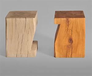 Hocker Aus Holz : hocker massiv holzhocker pfeife von vitamin design ~ Markanthonyermac.com Haus und Dekorationen