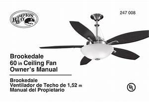 Hampton Bay Ceiling Fan Wall Control Instructions