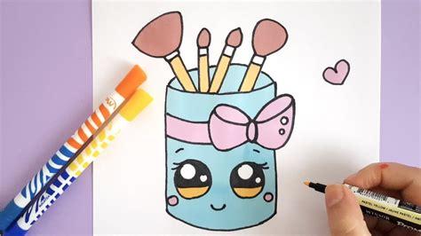 draw  cute makeup brush holder youtube
