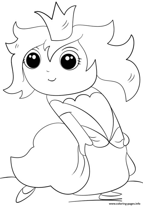 chibi princess kawaii coloring pages printable