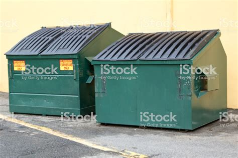 Industrial Garbage Bins For Cardboard Stock Photo & More