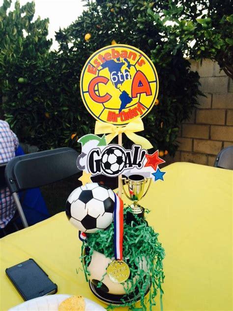 birthday centerpieces soccer theme america sandrukesinc
